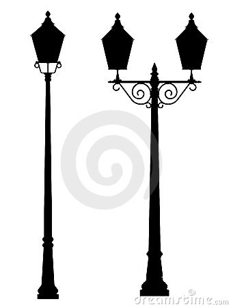 Street Lamp Light Outline Silhouette Royalty Free Stock Image Image 23086926