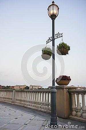 Street lamp of the riverside