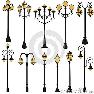 Free Street Lamp Set Stock Photography - 35543142
