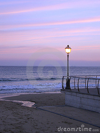 Free Street Lamp Sunset Royalty Free Stock Image - 3714766