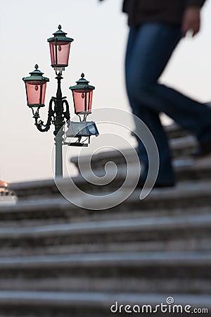 Street lamp venice italy