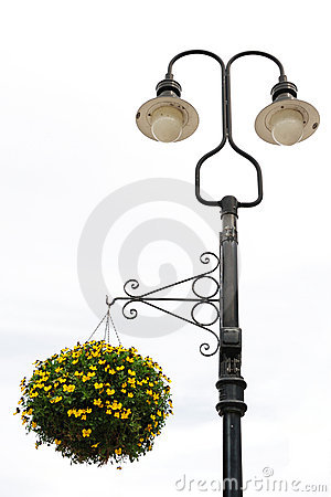 Free Street Lamp With Flower Stock Photo - 14020500