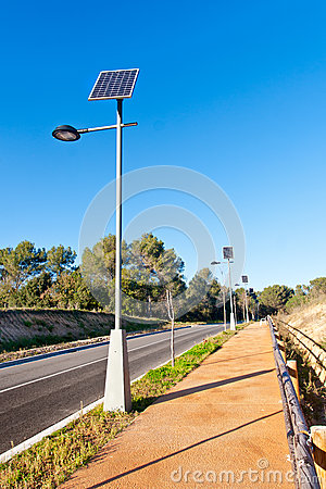 Free Street Lamp With Solar Panel Royalty Free Stock Photos - 28388318