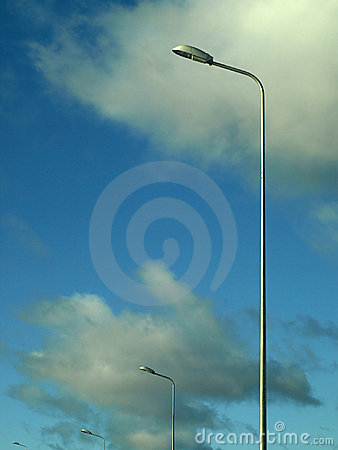 Free Street Lamps Over Cloudy Background Stock Image - 8663191