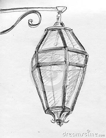 Street lantern - sketch