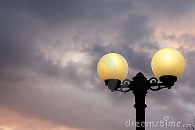 Street lantern and sky