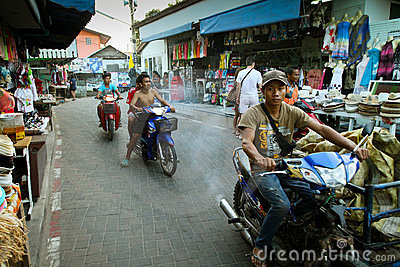 Street life on the Koh Lan island Editorial Photography