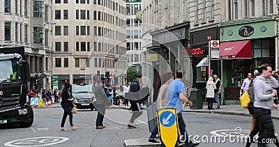 Street Life in Londen stock video