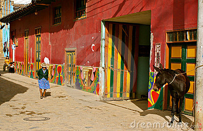 Street life in rural Colombia Editorial Stock Image