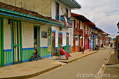 Street Life in Salento, Coffee Region, Colombia Editorial Image