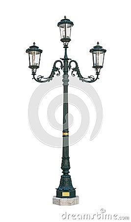 Free Street Light Lamp Post Cutout Royalty Free Stock Photos - 8715108