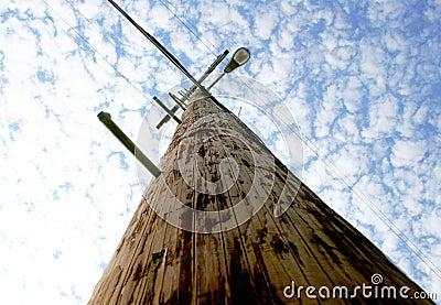 Street Light Telephone Pole