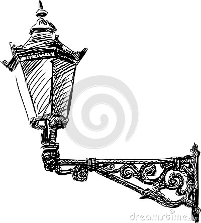 lamp royalty free stock photo street light vector drawing old l image30563165 on clipart of a lava coloring pages