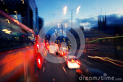 Street lights by night in London