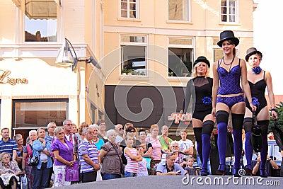 Street lingerie fashion show deventer Editorial Photo