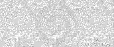 Street map of town Vector Illustration