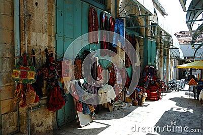 Street market (bazaar) in old Jerusalem,Israel