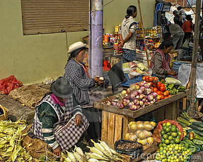 Street Market, Ecuador Editorial Image