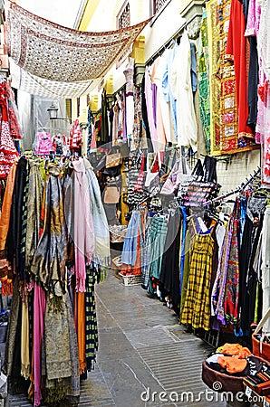 Street market in Granada