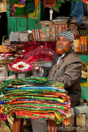 Street market in India Editorial Stock Photo