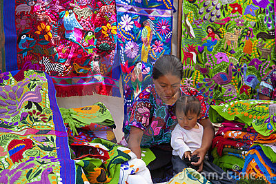 Street market in Mexico Editorial Photo