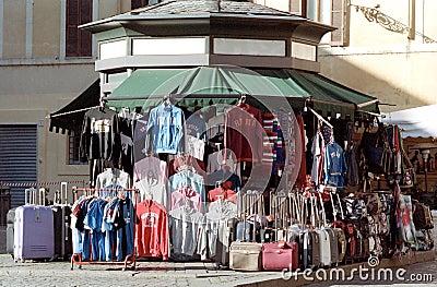 Street market in Roma Editorial Photo
