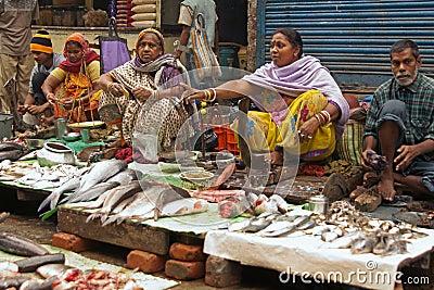 Street Market Selling Fish - Kolkata (Calcutta) - India Editorial Photography
