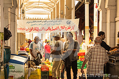 Street market in Tunis Editorial Photo