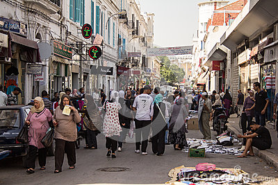 Street market in Tunis Editorial Image