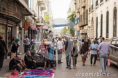 Street market in Tunis Editorial Stock Photo