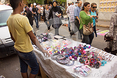 Street market in Tunis Editorial Stock Image