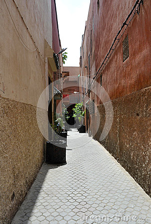 Street in medina of Marrakech