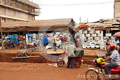 Street Merchants in Kampala, Uganda Editorial Photography