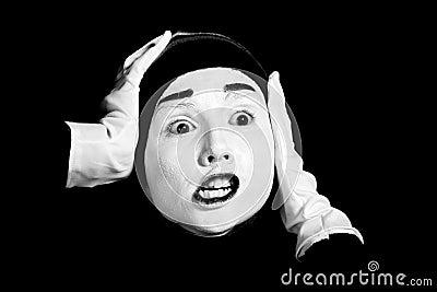 Street mime.