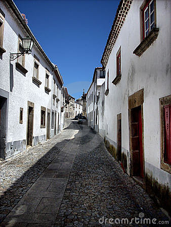 Old street of Miranda do Douro, north of Portugal
