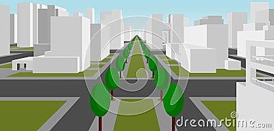 Street in a modern city