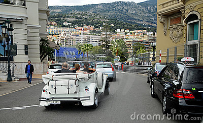 Street of Monte Carlo - veteran rallye Editorial Photography