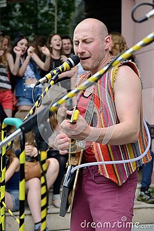 Free Street Music Day, Vilnius Stock Images - 34360834