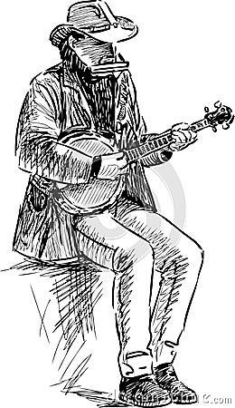 Free Street Musician Stock Photography - 49374852