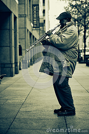 Street musician in New York Editorial Photo