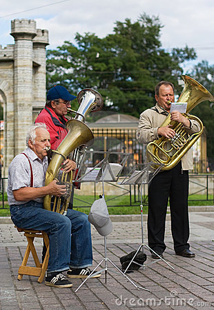 Street musicians Editorial Photography