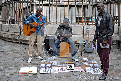 Street musicians. Editorial Stock Photo