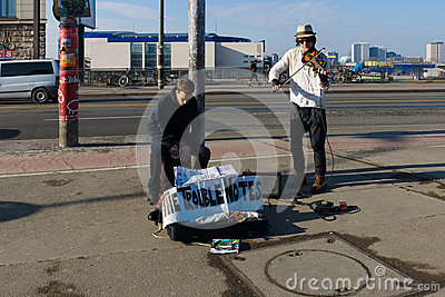 Street musicians Editorial Photo