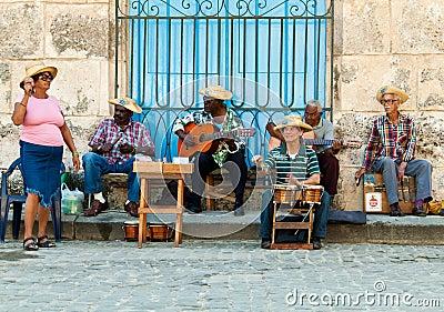 Street musicians in Havana Editorial Image