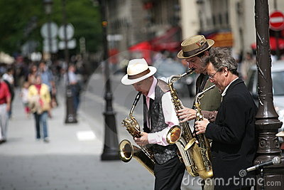Street Musicians in Paris. Editorial Image