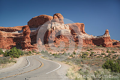Street near the Rock Pinnacles
