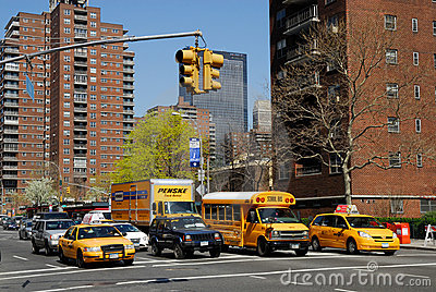 Street in New York City Editorial Stock Image