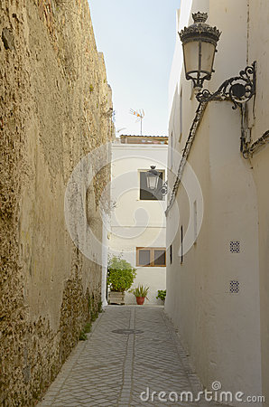 Street next to old fortfied wall