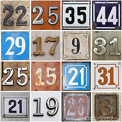 Street Numbers Royalty Free Stock Photography - Image: 15072647