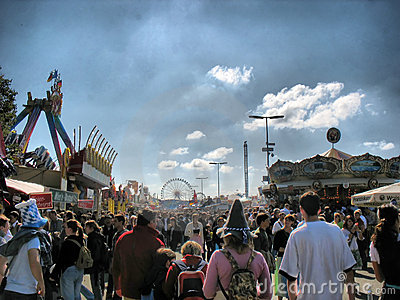 Street at Oktoberfest Festival (HDR) Editorial Image